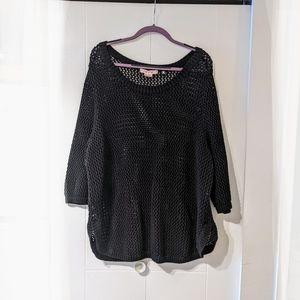 Black holey/open weave Penningtons sweater